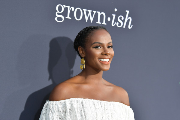 More Pics of Tika Sumpter Jumpsuit (1 of 9) - Suits Lookbook - StyleBistro [hair,face,skin,beauty,hairstyle,fashion,shoulder,eyebrow,dress,lady,arrivals,tika sumpter,california,los angeles,popsugar x,abc,goya studios,embrace your ish,event]