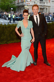 Helen McCrory rocked this structured mermaid gown in a light sea foam color at the 2013 Met Gala.