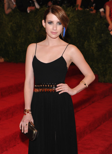 More Pics of Emma Roberts Bobby Pinned Updo (1 of 14) - Bobby Pinned Updo Lookbook - StyleBistro
