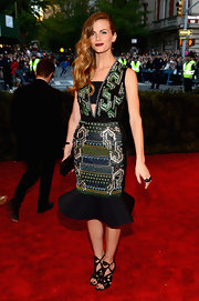 Brooklyn Decker wore this custom embellished dress that featured a fit-and-flare skirt at the 2013 Met Gala.