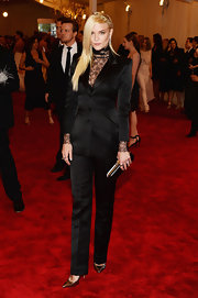 Jaime King rocked a sleek black pantsuit, which gave her a contemporary rock 'n' roll feel at the 2013 Met Gala.
