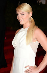 Lindsey Vonn opted for a totally sleek and sophisticated look at the 2013 Met Gala when she wore a low ponytail.