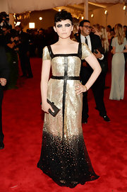 Ginnifer Goodwin sparkled in this gold and black ombre dress at the 2013 Met Gala.