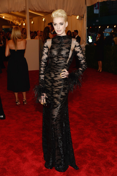 Anne Hathaway in Sheer Black
