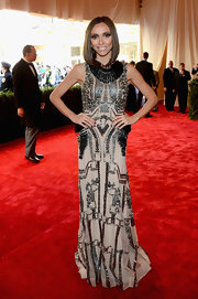 Giuliana Rancic brought out the heavy metal with this embellished gown at the 2013 Met Gala.