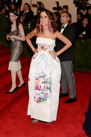 Coco Brandolini D'Adda went with florals for her more feminine than punk look at the 2013 Met Gala.