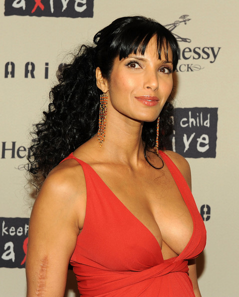 Padma Lakshmi Dangling Gemstone Earrings