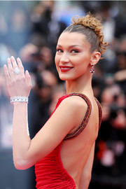 Bella Hadid showed off a stunning diamond bracelet by Bulgari at the Cannes Film Festival screening of 'Pain and Glory.'