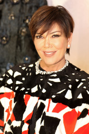 Kris Jenner looked summery with her short hairstyle at the Palazzo Fendi and Zuma inauguration.