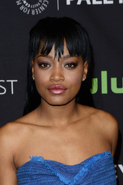 Keke Palmer worked an edgy look with this straight hairstyle with uneven bangs during PaleyFest Los Angeles.