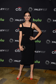 Torrey Devitto looked super trendy in an asymmetrical black cutout dress during PaleyFest LA.