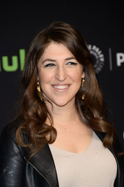 Mayim Bialik looked ultra girly with her bouncy curls during PaleyFest Los Angeles.