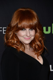 Julie Klausner sweetened up her look with bouncy curls and eye-grazing bangs for PaleyFest Los Angeles.