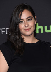 Alanna Masterson looked pretty with her side-swept curls at the PaleyFest Los Angeles presentation of 'The Walking Dead.'