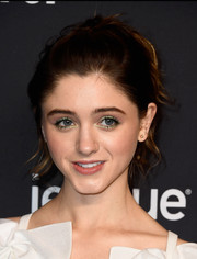 Natalia Dyer wore her hair in a voluminous, wavy ponytail during PaleyFest Los Angeles.