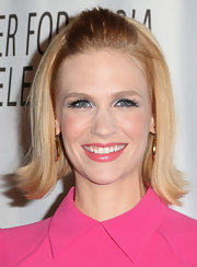 January Jones was a '60s darling in this cute half-up 'do.