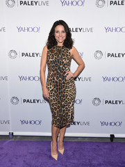 Julia Louis-Dreyfus went for classic sophistication in an Altuzarra leopard-print sheath during the Paley Center 'Veep' event.