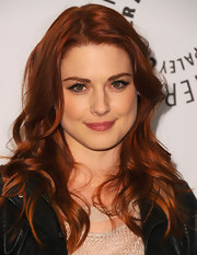 Alexandra Breckenridge attended PaleyFest 2012 wearing her hair in long layered curls.
