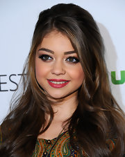 Sarah Hyland attended PaleyFest 2012 wearing a striking raspberry-hued lipstick.