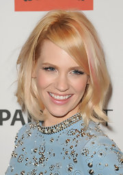 January Jones attended PaleyFest 2012 wearing her bobbed hair in tousled waves with candy pink streaks.