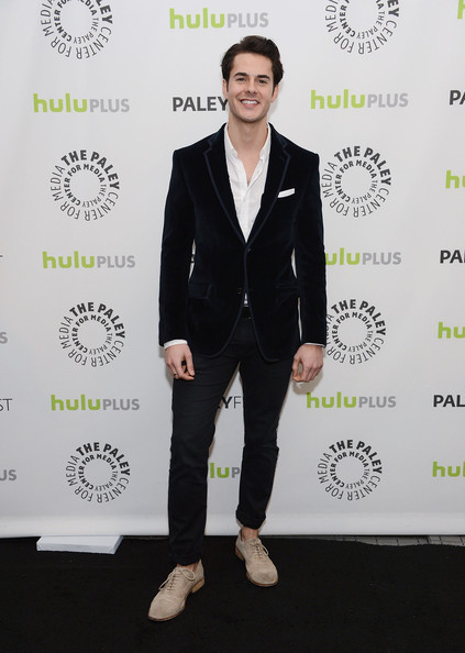 Jayson Blair opted for a fun and funky velvet blazer while attending PaleyFest 2013.