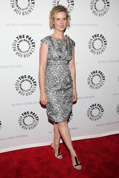More Pics of Cynthia Nixon Short Curls (1 of 13) - Short Hairstyles Lookbook - StyleBistro [the big c,clothing,dress,red carpet,cocktail dress,carpet,fashion model,hairstyle,flooring,fashion,premiere,cynthia nixon,screening,new york city,paley center for media presents,paley center for media]