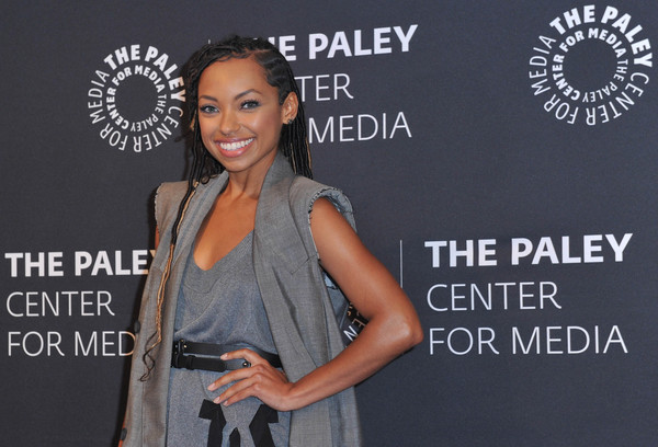 More Pics of Logan Browning Peep Toe Pumps (1 of 6) - Logan Browning Lookbook - StyleBistro [fashion,premiere,fashion design,talent show,style,dear white people,paley center for media presents: an evening with,an evening with,beverly hills,california,the paley center for media,logan browning]