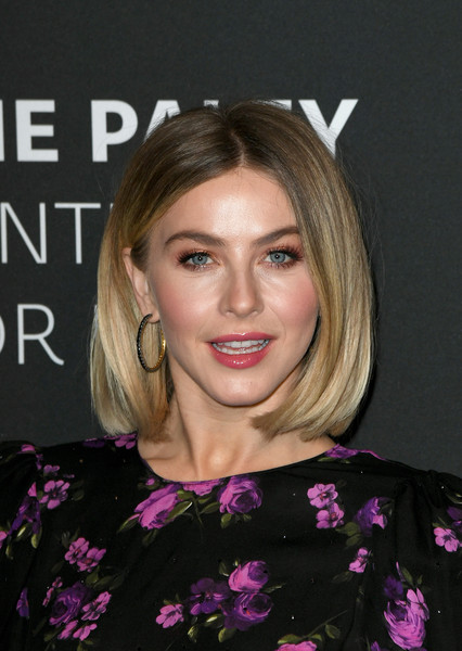 Julianne Hough dolled up her lobes with a pair of gemstone hoops.