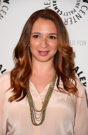 Maya Rudolph applied a deep rosy lip stain for an evening with 'Up All Night.'