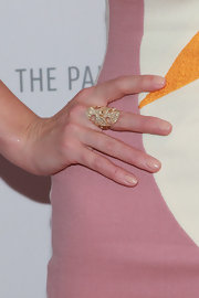 Jessica Pare's gold statement ring was a sparkly and classy addition to the star's red carpet look.