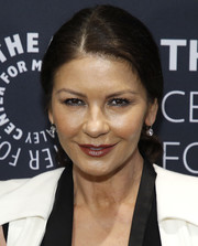 Catherine Zeta-Jones kept it casual with this ponytail at the Paley Honors luncheon celebrating Michael Douglas.