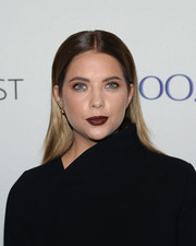 Ashley Benson looked vampy with her dark red lipstick.