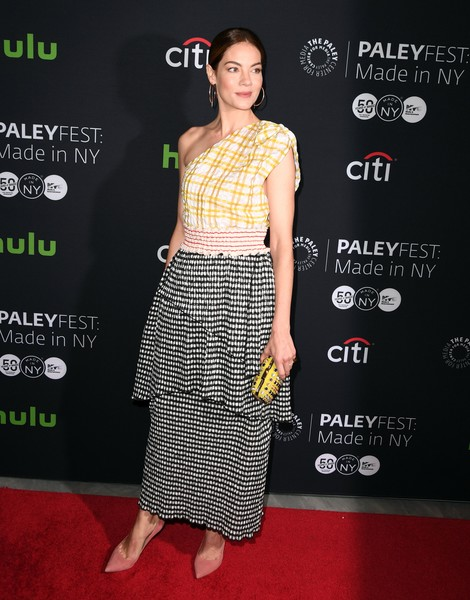 More Pics of Michelle Monaghan One Shoulder Dress (1 of 9) - Michelle Monaghan Lookbook - StyleBistro [the path,clothing,carpet,red carpet,crop top,dress,premiere,fashion,footwear,waist,shoulder,michelle monaghan,angela weiss,paleyfest new york,new york,afp,paleyfest: made in new york,screening event]