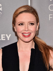 Natasha Lyonne pulled her hair back into a side-parted ponytail for the PaleyLive LA 'Orange is the New Black' event.
