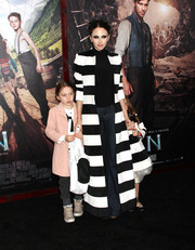 Stacey Bendet attended the New York premiere of 'Pan' rocking bold black-and-white stripes (by Alice + Olivia, of course).