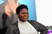 Danielle Brooks wore her hair in short curls at the world premiere of 'Nobody's Fool.'