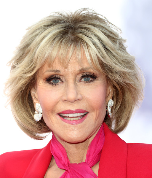 Jane Fonda showed off a perfectly styled bob at the premiere of 'Book Club.'