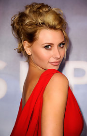 Alyson Michalka wore her hair in a halo of sexy bobby pinned curls at the 'Super 8' DVD release party.