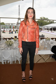 Charlotte Casiraghi's strappy high heels added a sexy touch.