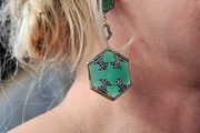 Patricia Arquette Dangling Gemstone Earrings