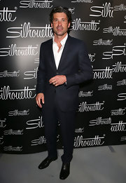 Patrick Dempsey looked dapper and sophisticated in Milan where he wore a classic suit.