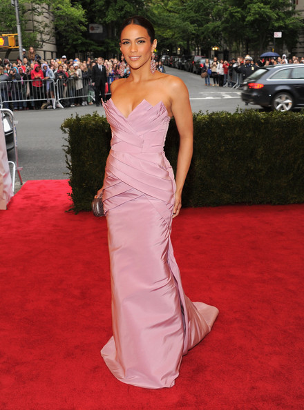 Paula Patton Strapless Dress