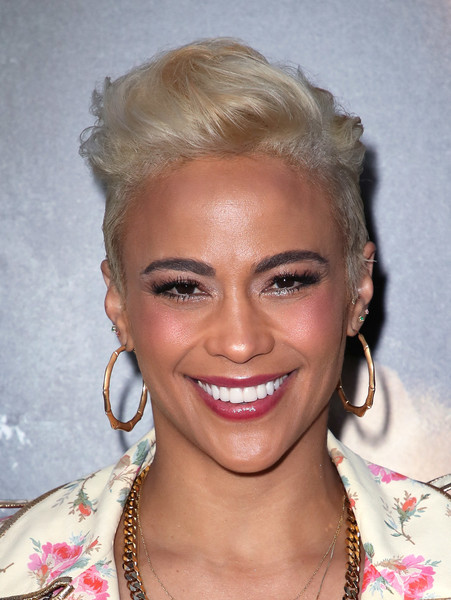 Paula Patton Fauxhawk [codeblack films,traffik,hair,face,hairstyle,eyebrow,blond,lip,chin,forehead,head,beauty,arrivals,paula patton,arclight hollywood,california,premiere,premiere]
