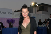 Pauley Perrette Shawl-Collar Cardigan