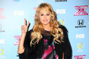 Paulina Rubio Fur Coat