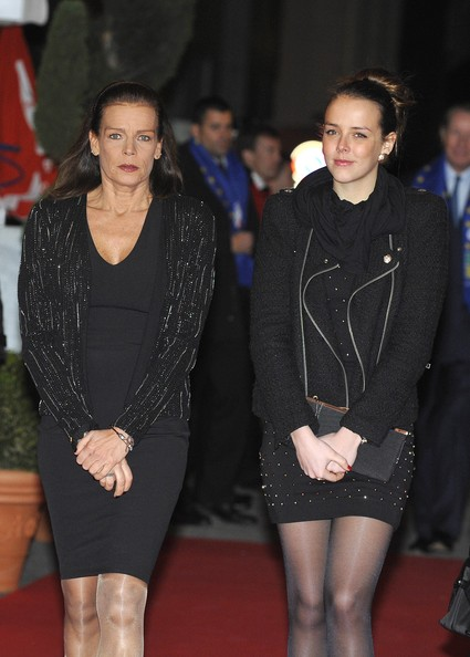 Pauline Ducruet Motorcycle Jacket [fashion,event,dress,leg,footwear,thigh,little black dress,outerwear,premiere,human leg,monte-carlo 37th international circus festival - closing ceremony,pauline ducruet,stephanie of monaco,l-r,monte-carlo,monaco,closing ceremony,monte-carlo 37th international circus festival]