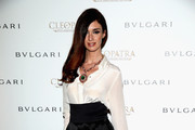 Paz Vega High-Waisted Pants