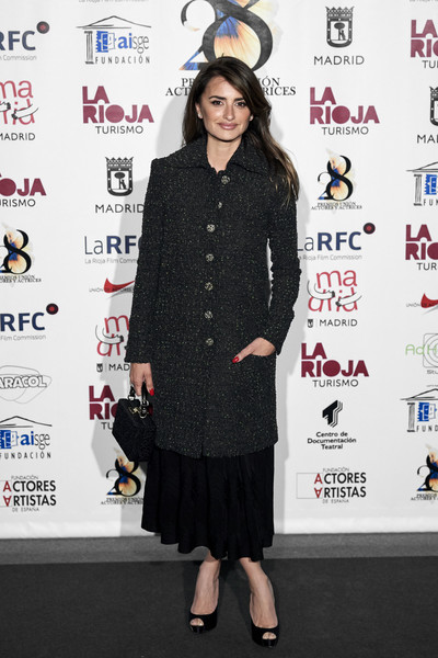 Penelope Cruz Tweed Coat