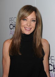 Allison Janney wore her hair down with a side part when she attended the People's Choice Awards nominations press conference.