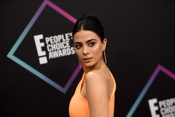 More Pics of Emeraude Toubia Braided Bun (2 of 4) - Emeraude Toubia Lookbook - StyleBistro [beauty,model,fashion,muscle,lip,photography,black hair,photo shoot,performance,flash photography,peoples choice awards,barker hangar,santa monica,california,arrivals,emeraude toubia]